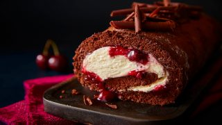 Chocolate and Cherry Roulade