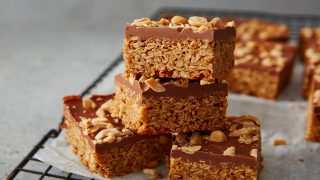 Peanut Butter and Chocolate Flapjack