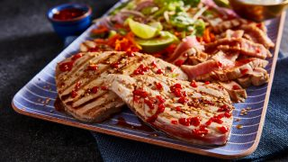 Soy and Lime Tuna with Asian Slaw