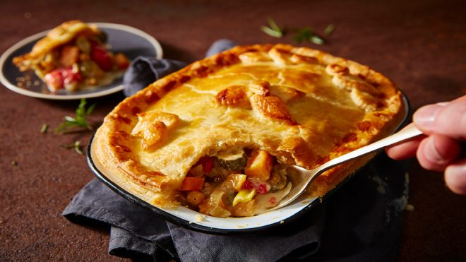 Roasted Veg and Stilton Pie