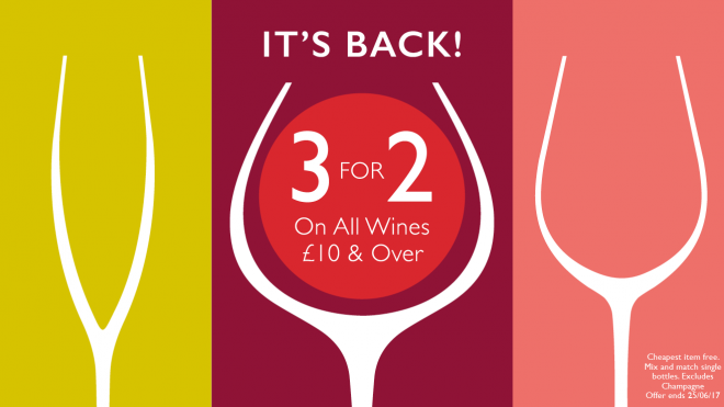 3 for 2 wines