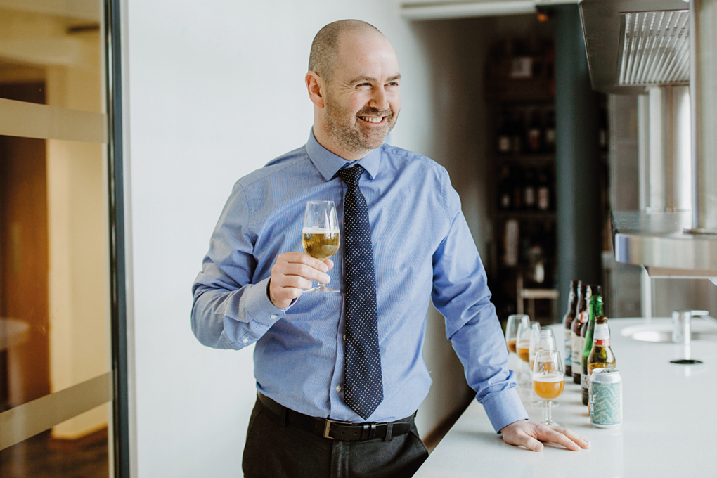 Pete Newton, Beer and Spirits buyer in the Booths Tasting Room