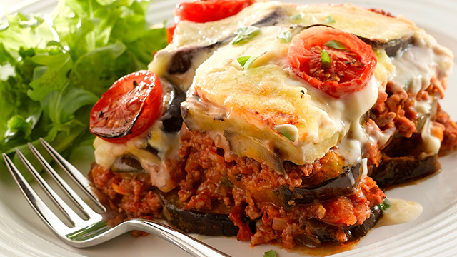 Moussaka v Lasagne - Black Cat Bone