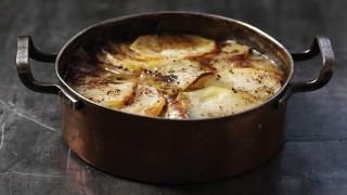 Lamb Hotpot served in a casserole dish