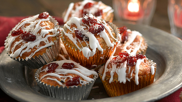 Mini Cranberry and White chocolate Muffins Recipe - Booths