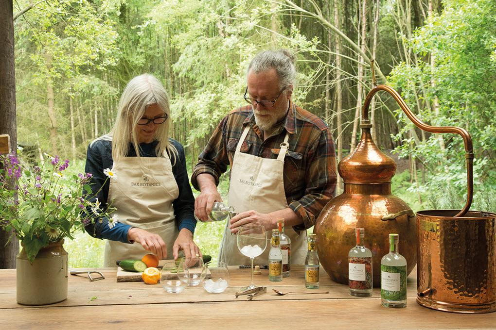 Rose and Chris from Bax Botanics