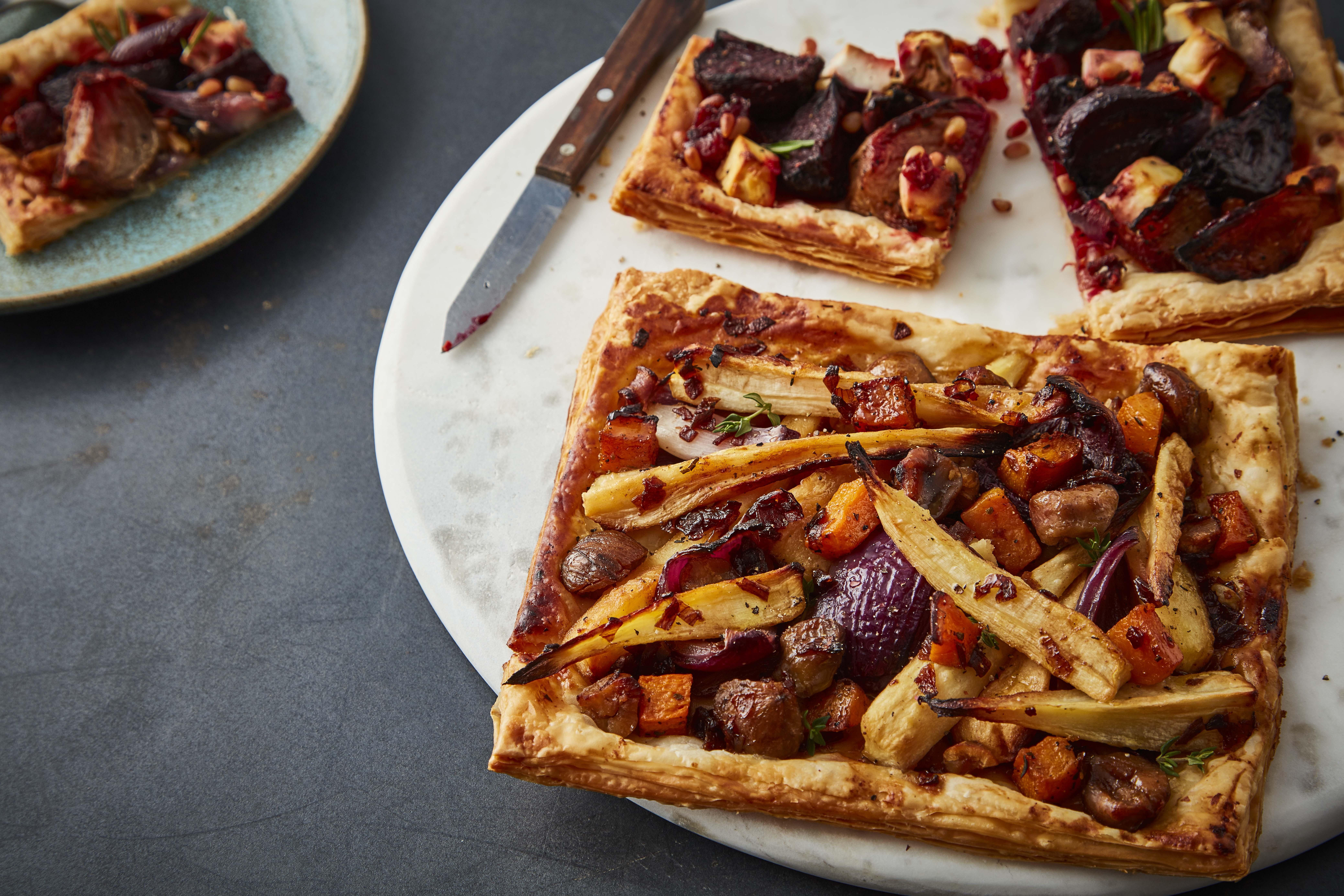 Booths Beetroot and Roasted Parsnip Tart