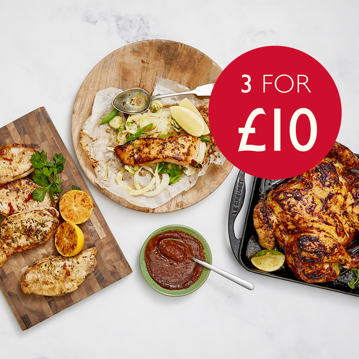 3 for £10 on Selected Fresh Meat and Fish