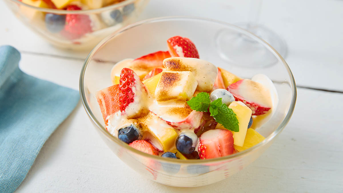 Fruit Zabaglioni served in a bowl