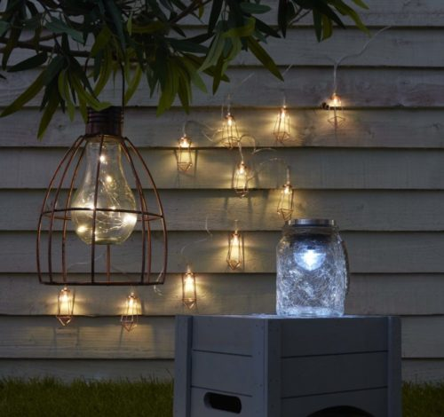 Outdoor lighting products available at Booths