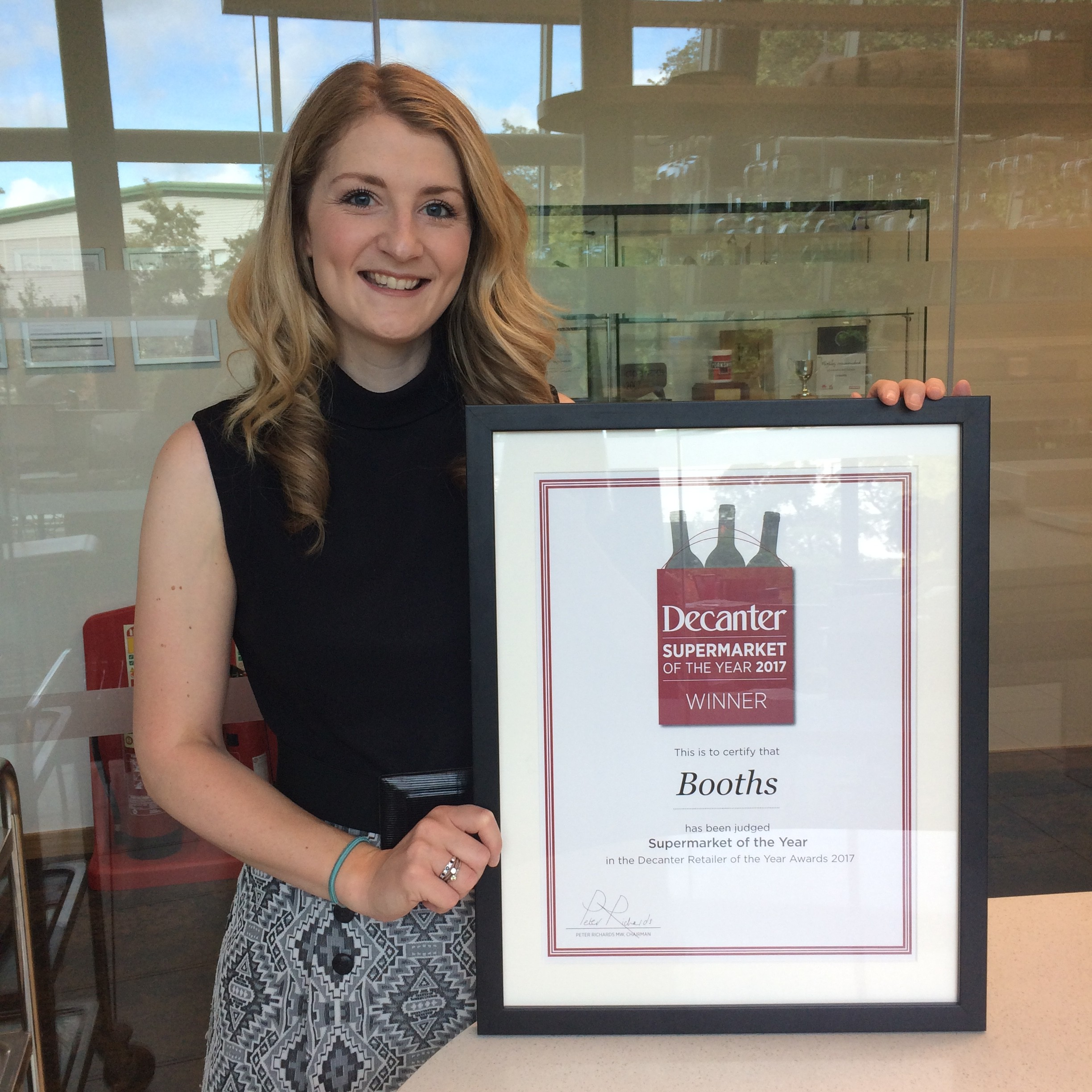 Our Wine Buyer Victoria with Our Decanter 2017 Award