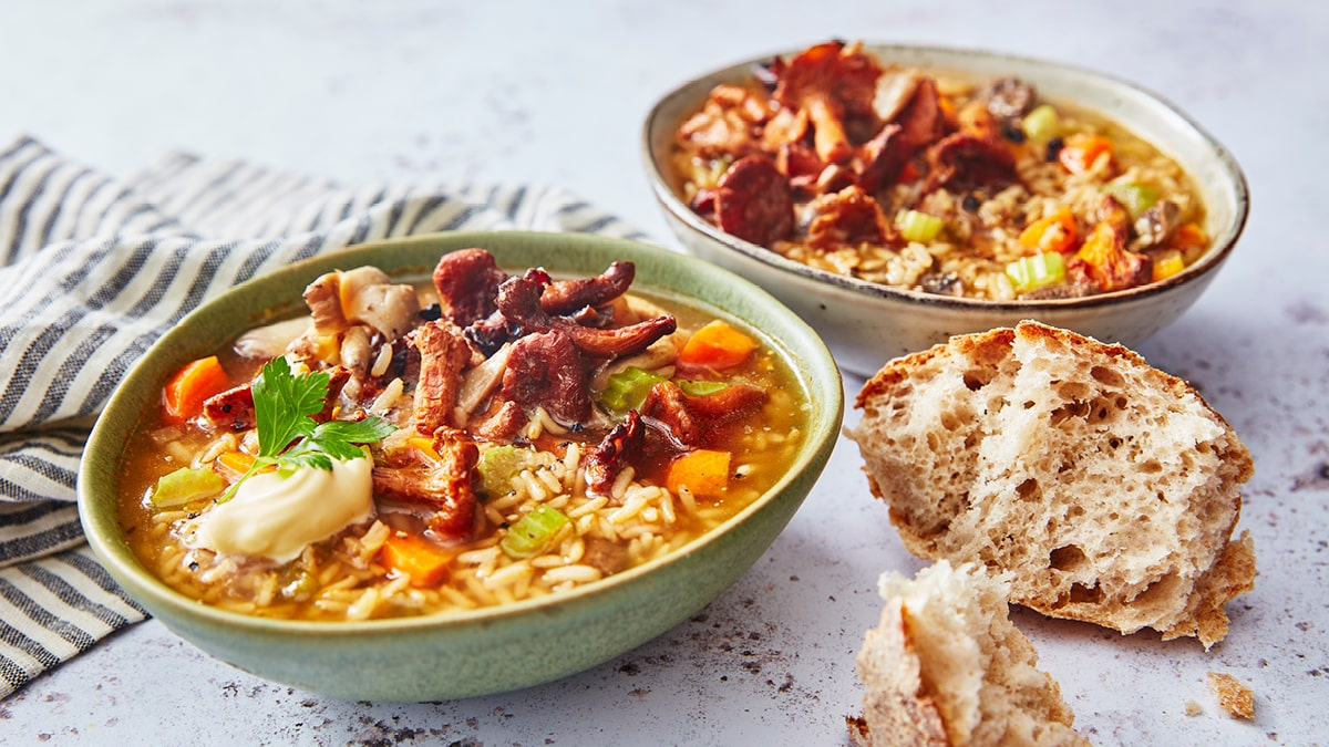Mushroom & Rice Soup