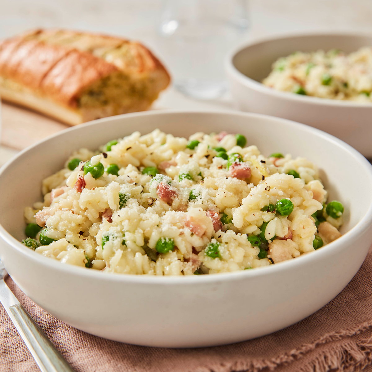 Pea and Pancetta Risotto