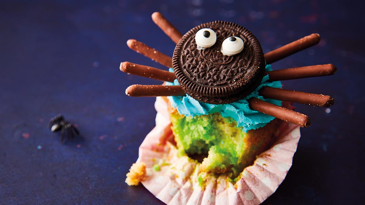 Scary Spider Cupcakes