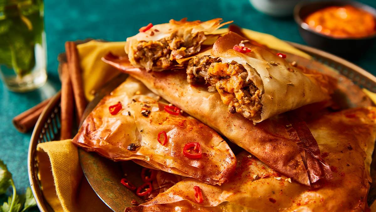Tunisian Spicy Lamb Brik