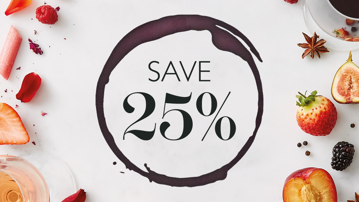 Save 25% on selected wines