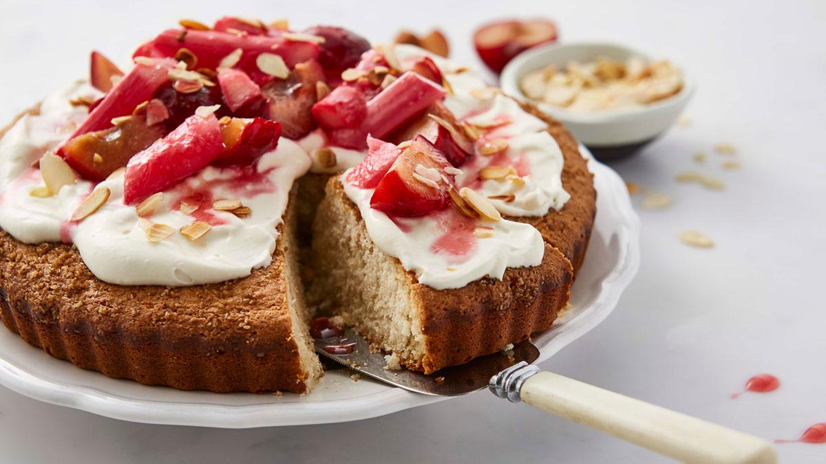 Rhubarb Vegan Cake