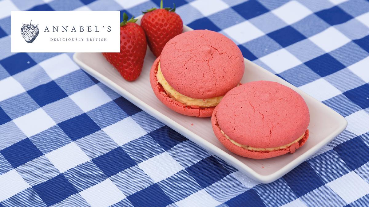 Strawberries & Cream Ice Cream Sandwiches