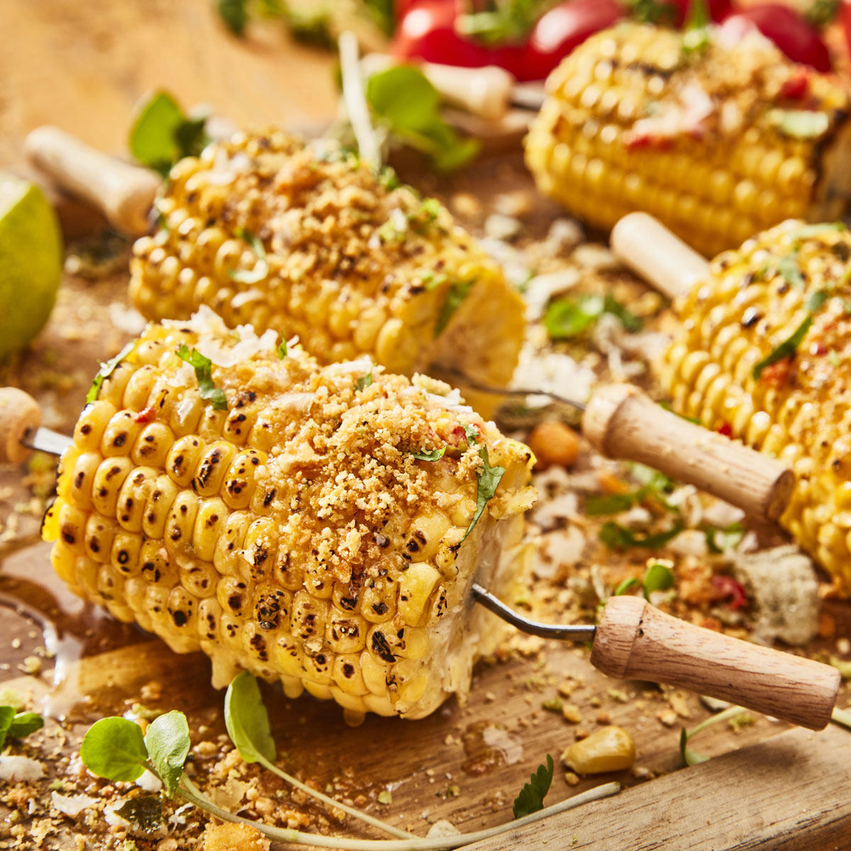 BBQ Sweetcorn with Chilli Butter