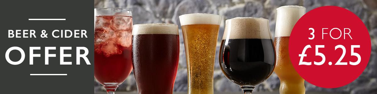 Beer & cider offer