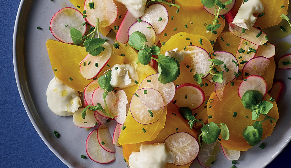 golden beetroot salad