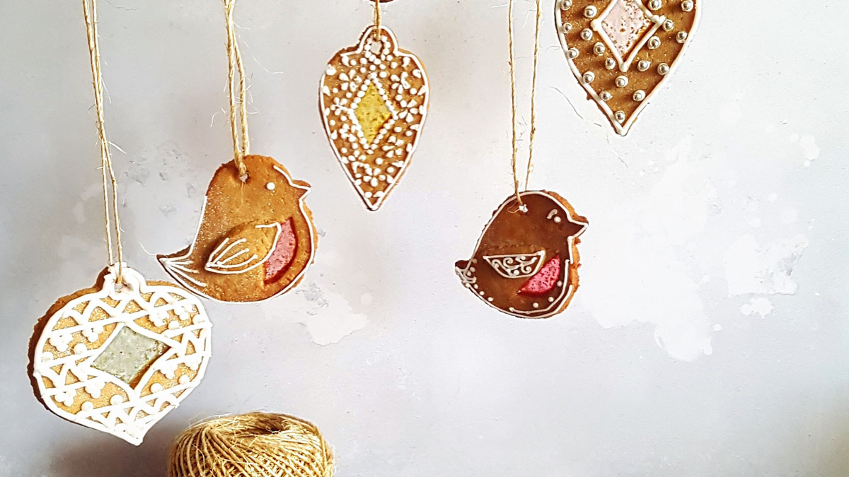 Gingerbread Christmas Decorations in various shapes and sizes