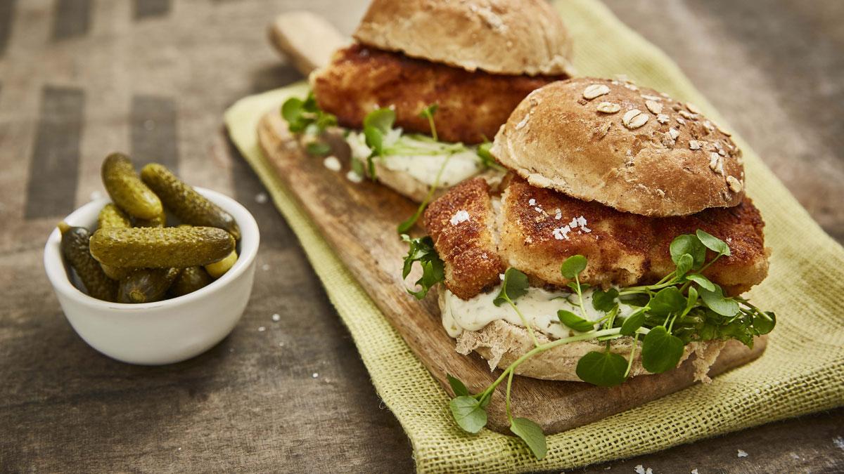 crispy fish burgers