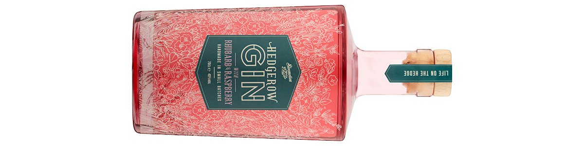 Sloemotion Hedgerow Gin with Rhubarb and Raspberry 70cl