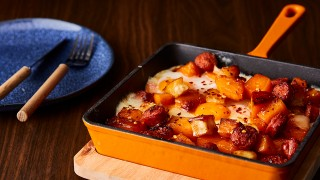 Chorizo and Butternut Squash Hash