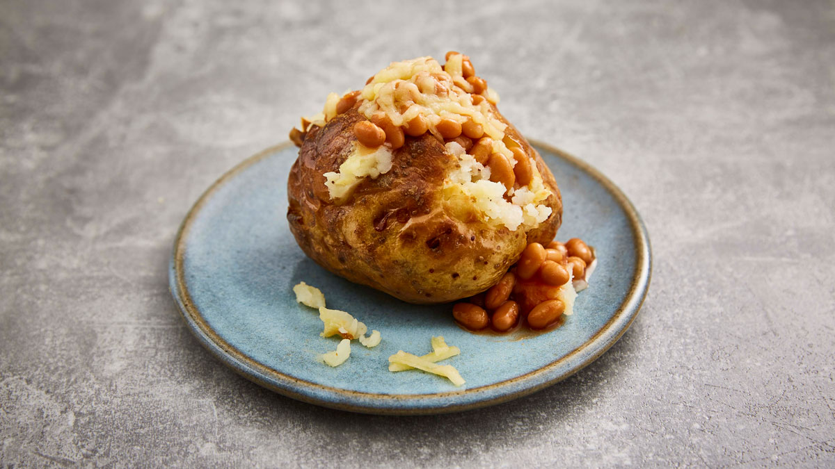 Jacket Potato, available from the selected menu.