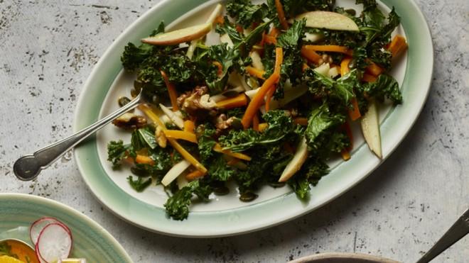 Kale, Apple and Walnut Salad