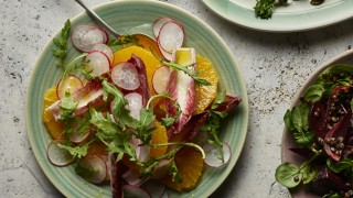 Orange, Red Chicory and Radish Salad