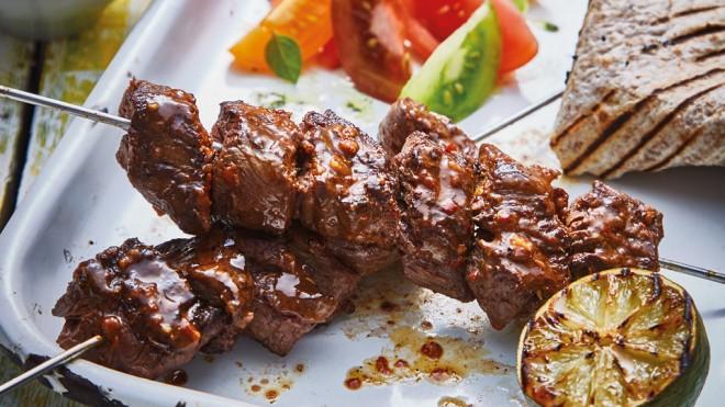 Brazilian Churrasco Beef Kebabs Recipe - Booths