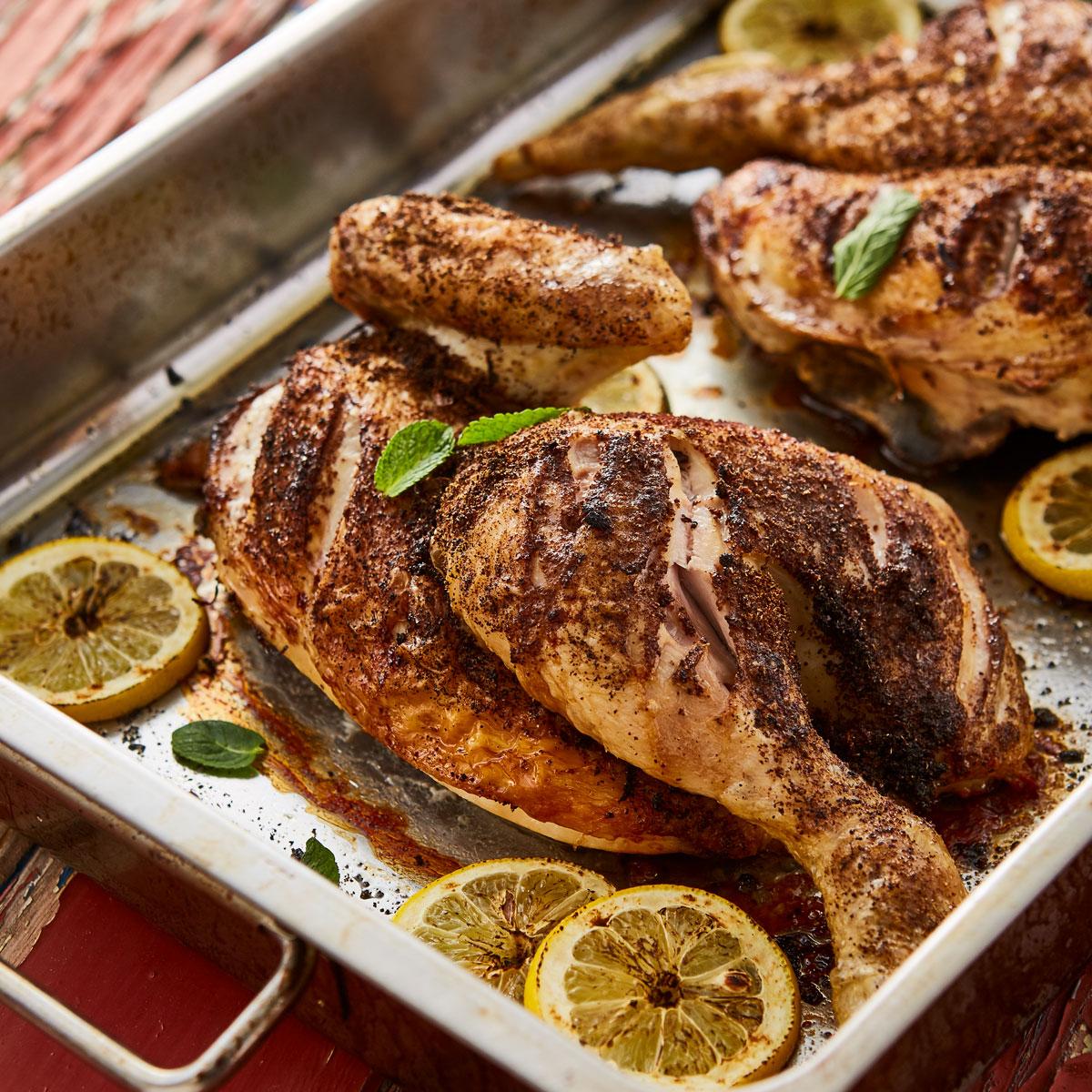 Persian Spatchcock Chicken