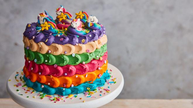 Pleasing The Ultimate Rainbow Cake Recipe Booths Supermarket Funny Birthday Cards Online Hetedamsfinfo