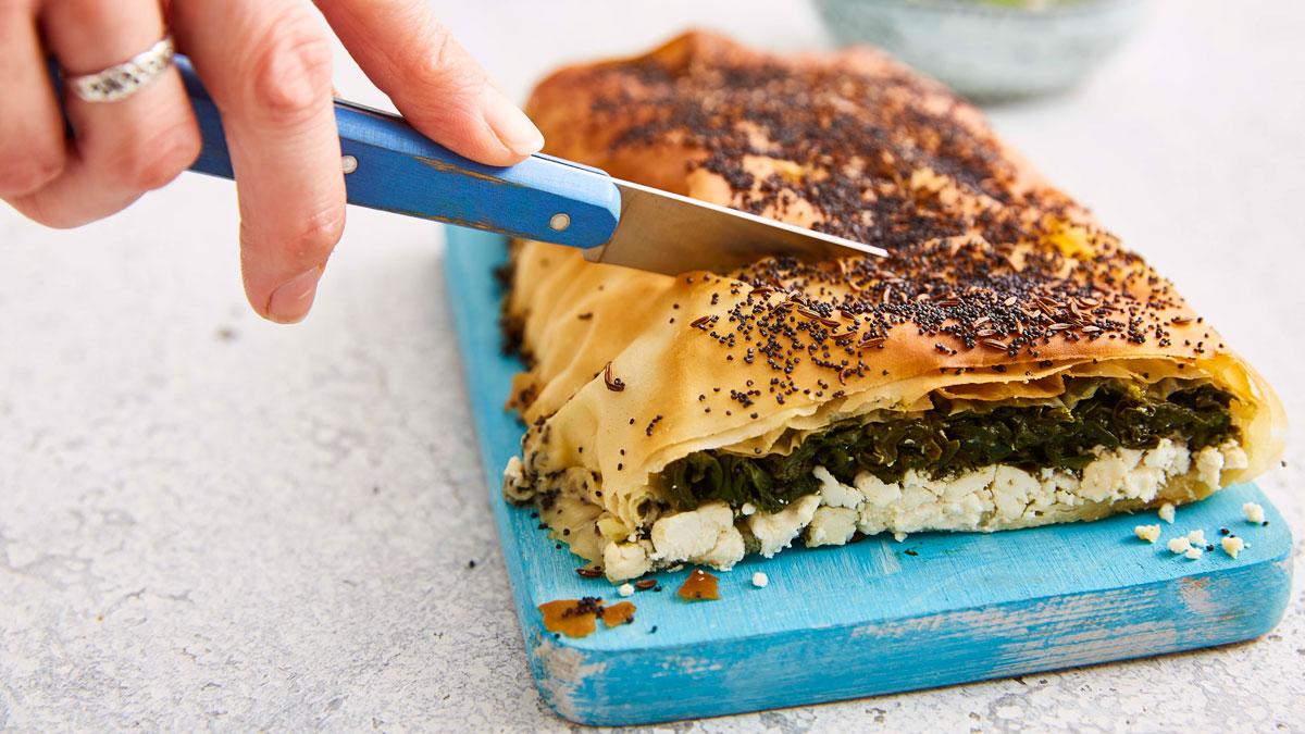 Spinach and Feta Filo Roll