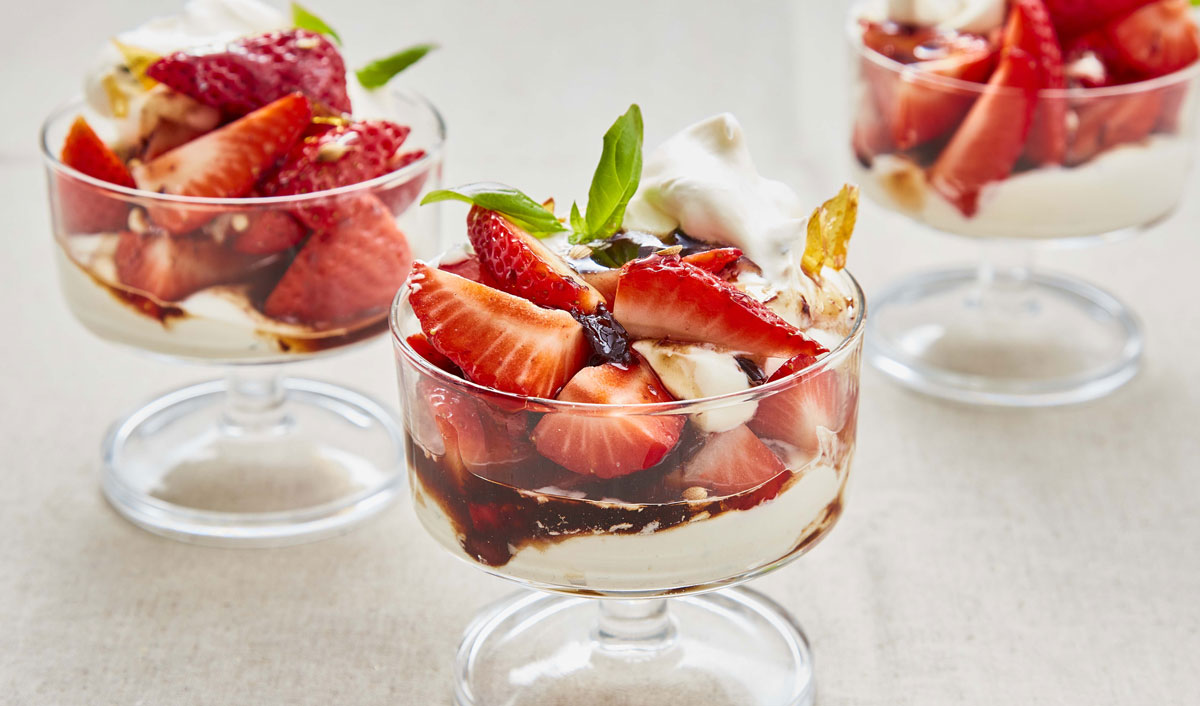 Strawberries and Olive Caramel