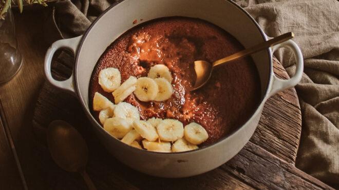 Giant Caramel Melting Pudding