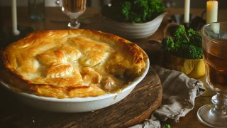 Chicken, Pancetta and Cheese Pie