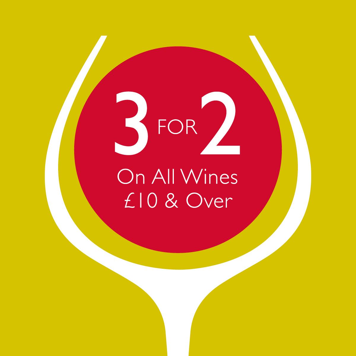 Enjoy 3 for 2 on Wine
